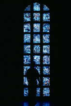 Paul Kos, Chartres Bleu, 1983-86. Installation at MOCRA, 1993.