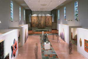 Installation view, Sanctuaries: Recovering the Holy in Contemporary Art, at MOCRA, 1993.