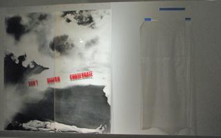 "Juan Gonzalez' ""Don't Mourn, Consecrate"" ... installation in progress"