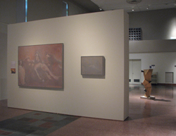 """Installation view, """"Good Friday."""" MOCRA's nave gallery, looking east"""