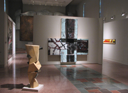 """Installation view, """"Good Friday."""" MOCRA's nave gallery, looking west"""