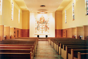 Fusz Chapel prior to the MOCRA renovation.