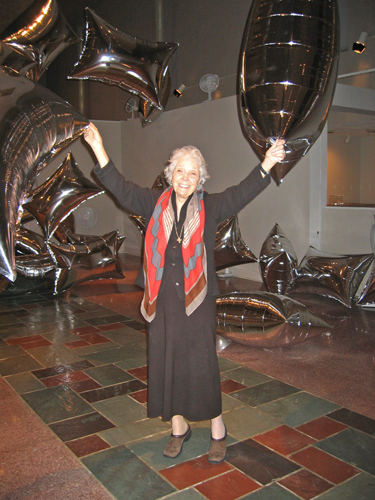 Jane Owen visiting MOCRA in 2007.
