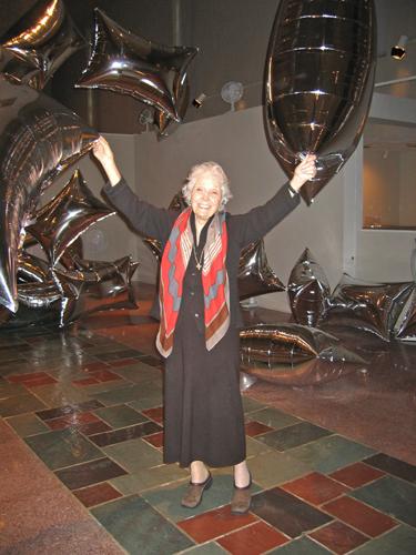 Jane Owen visiting MOCRA in 2007.