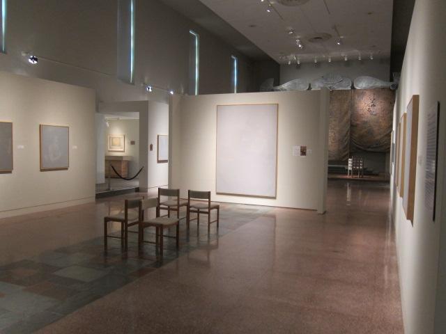 The paintings of James Rosen in MOCRA's nave gallery.