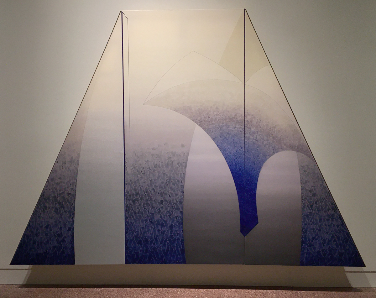 Daniel Ramirez, Caelestis Praesepe (Celestial Manger), 1989–1990. Acrylic on canvas, oak. MOCRA collection.