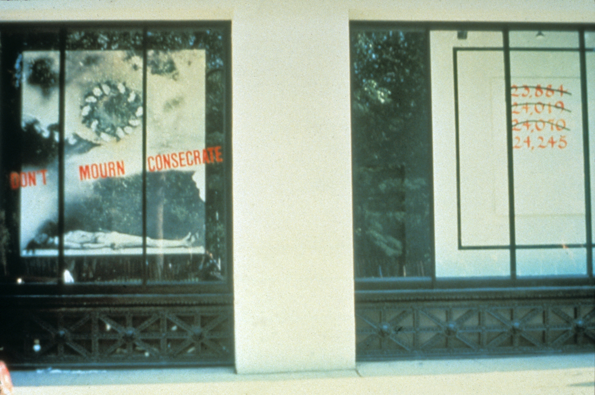 Juan González, Don't Mourn, Consecrate, 1987. Installation at Grey Art Gallery.